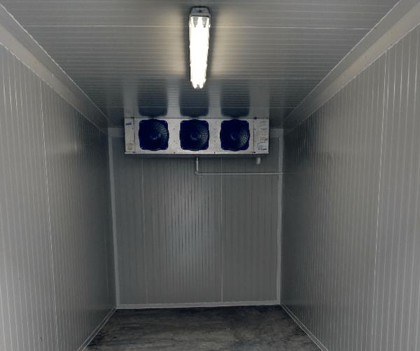 componentes en el diseño de un cuarto frio
